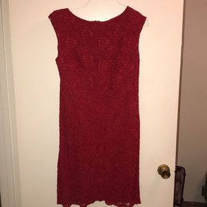 Ralph Lauren red lace dress